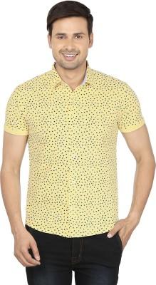 Ruse Men's Printed Casual Yellow, Black Shirt