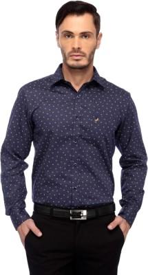 Frank Jefferson Men's Printed Party Blue Shirt