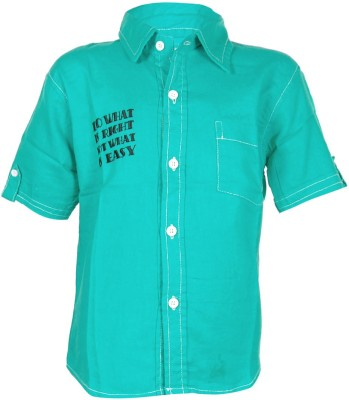 ANT Boy's Striped Casual Green Shirt