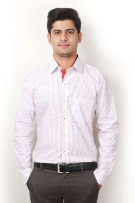 Frissk Men's Floral Print Formal Red Shirt