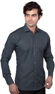 AADUKI Men's Solid Formal Grey Shirt