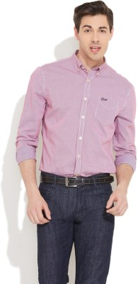 Coast Men's Checkered Formal Red Shirt