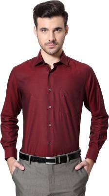 Van Heusen Men's Solid Formal Maroon Shirt