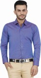 McHenry Men's Solid Formal Purple Shirt