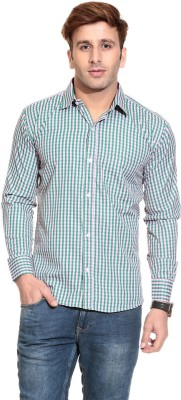 Pede Milan Men's Checkered Casual Green, White Shirt