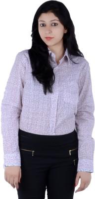 S9 Women's Self Design, Printed Casual Maroon, White, Black Shirt