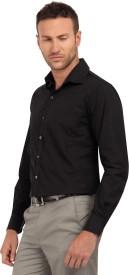 Copperline Men's Solid Formal Black Shirt