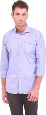 Sleek Line Men's Solid Casual Light Blue Shirt