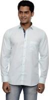 Ach Fashion Formal Shirts (Men's) - Ach Fashion Men's Self Design Formal Light Blue Shirt