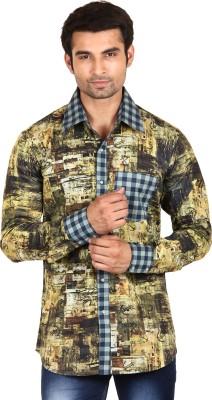 Swiss Culture Men's Printed Casual Reversible Multicolor Shirt