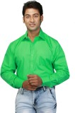 Relish Men's Solid Formal Green Shirt
