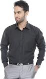 City Style Men's Solid Formal Black Shir...