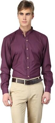 Hutz Men's Solid Formal Purple Shirt
