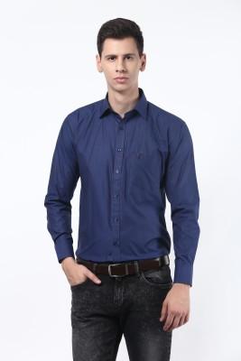 Remo Men's Solid Formal Dark Blue Shirt