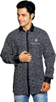 Classic Blues Men's Printed Casual Reversible Black Shirt