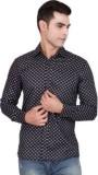 FDS Men's Printed Casual Black Shirt