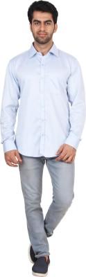 Rollinia Men,s Houndstooth Casual Light Blue Shirt