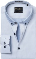 Invictus Formal Shirts (Men's) - Invictus Men's Self Design Formal Blue Shirt