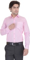 Lee Mark Formal Shirts (Men's) - Lee Mark Men's Solid Formal Pink Shirt