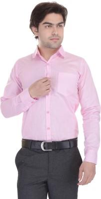 Lee Mark Men's Solid Formal Pink Shirt