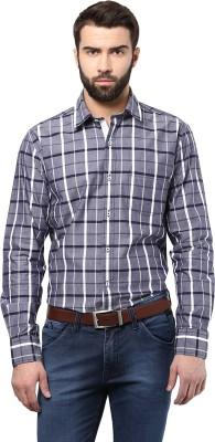 Poze Men's Checkered Casual Blue Shirt