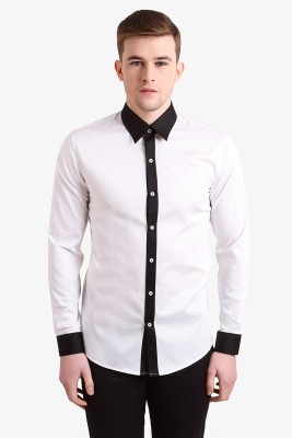 Alvin Kelly Men's Solid Casual White Shirt