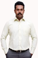 S Mark Formal Shirts (Men's) - S-Mark Men's Solid Formal Yellow Shirt