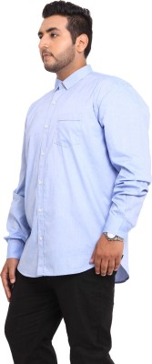 John Pride Men's Solid Casual Blue Shirt