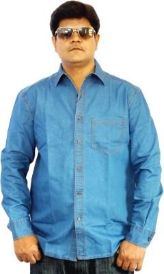 Scottland Men,s Solid Casual Light Blue Shirt