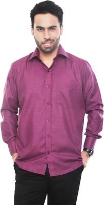 VinaraTrends Mens Solid Formal Pink Shirt