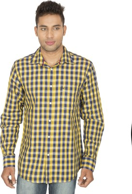 SmartCasuals Men's Checkered Casual Blue, Yellow Shirt