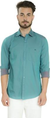 Club X Men's Solid Casual Green Shirt