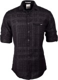 So Design Men's Self Design Casual Black...