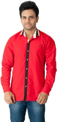 Z-Plus Men's Solid Casual Red Shirt