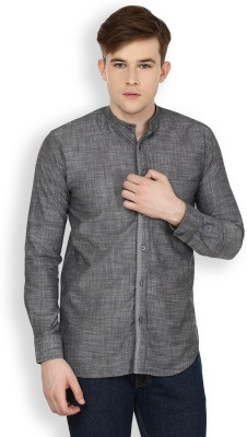 Cotton County Premium Men's Solid Casual Grey Shirt