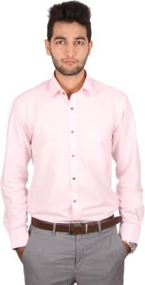Styllus Men's Solid Formal Pink Shirt