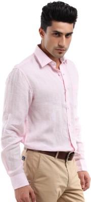 Yellow Tree Men's Solid Formal Pink Shirt