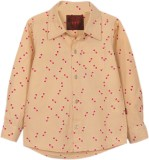My Little Lambs Boys Printed Casual Beig...