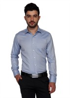 Frank Jefferson Formal Shirts (Men's) - Frank Jefferson Men's Solid Formal Blue Shirt