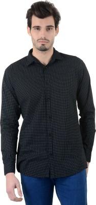 Piccolo Clothings Men's Printed Casual Black Shirt