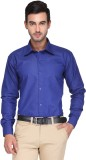 Ausy Men's Solid Formal Dark Blue Shirt