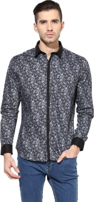 MONTEIL & MUNERO Men's Printed Casual Grey Shirt