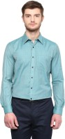 London Bridge Formal Shirts (Men's) - London Bridge Men's Solid Formal Green Shirt