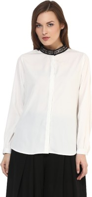 Martini Women's Solid Party White Shirt