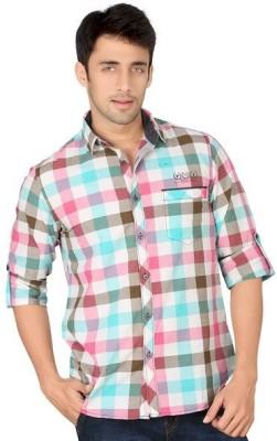 Piazza Italya Men's Checkered Casual Multicolor Shirt