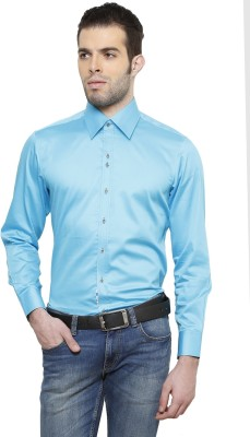 RICHARD COLE Men's Solid Formal Light Blue Shirt