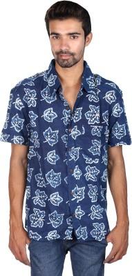 Rajrang Men's Printed Casual Blue Shirt