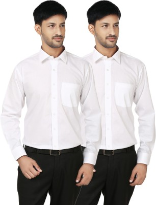 Hi Man Men's Solid Casual White Shirt