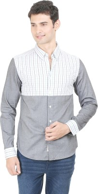 Flippd Men's Checkered Casual Green, White Shirt