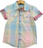 IDK Boys Checkered Casual Multicolor Shi...